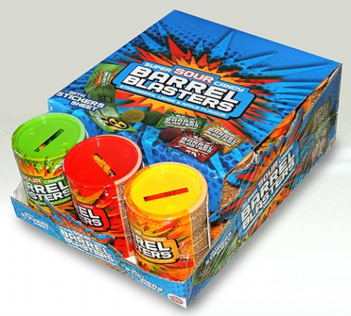 BIP05 SOUR CANDY BARREL BLASTERS x12